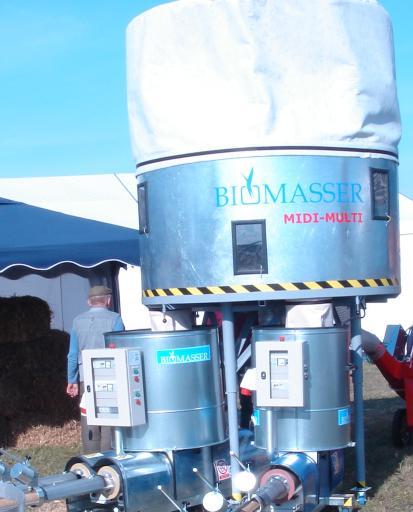 BIOMASSER MIDI-MULTI wydajność* 300-500 kg/h