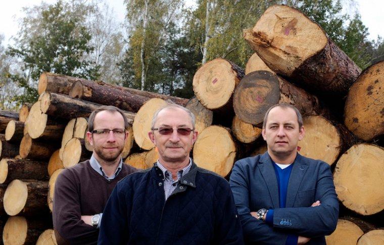 Marcin, Marek i Bartosz Burkietowiczowie - właściciele firmy Wiązary Burkietowicz