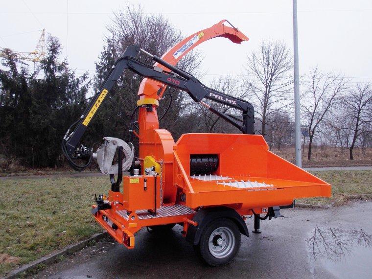 Skorpion 500RB jest rębakiem bębnowym, współpracującym z ciągnikiem rolniczym o mocy WOM minimum 105 KM (540 ÷750 obr./min).