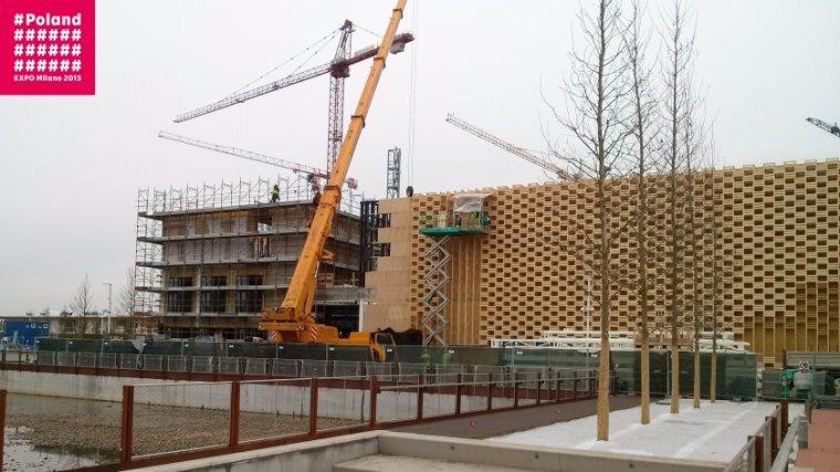 Pawilon Polski Expo 2015 podczas budowy