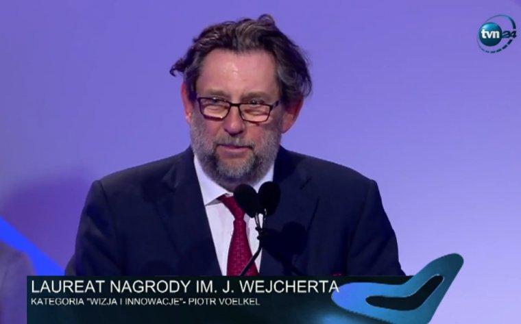 Piotr Voelkel podczas gali Nagrody Polskiej Rady Biznesu im. Jana Wejcherta.