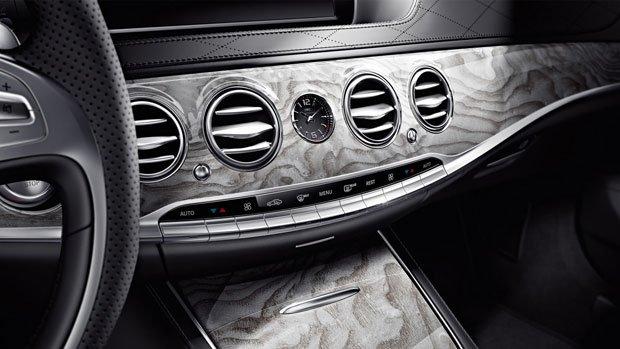 Mercedes S-CLASS S63 AMG wykończenie metalizowane z drewna jesionu