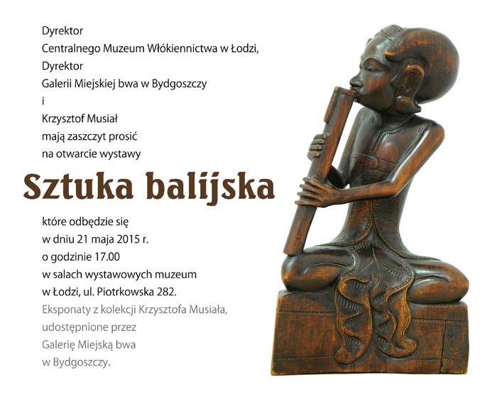 Wystawa eksponatów z indonezyjskiej wyspy Bali