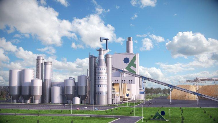Wizualizacja fabryki w Kuopio