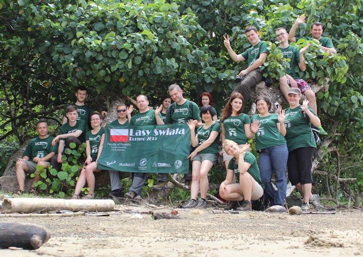 Uczestnicy wyprawy na Borneo