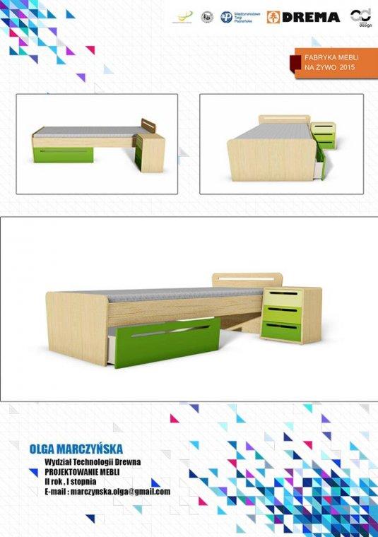 Łóżko zaprojektowane przez Olgę Marczyńską będzie produkowane przez Fabrykę na Żywo