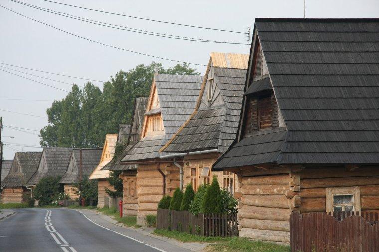 Zabytkowe drewniana zabudowa Chochołowa