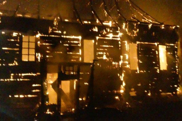 Pożar kościoła w Libuszy