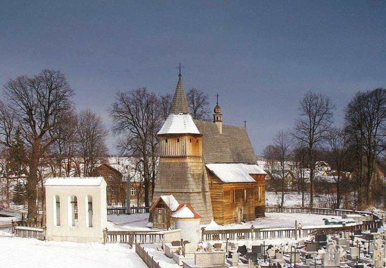 Kościół w Libuszy po odbudowie (2007r.)