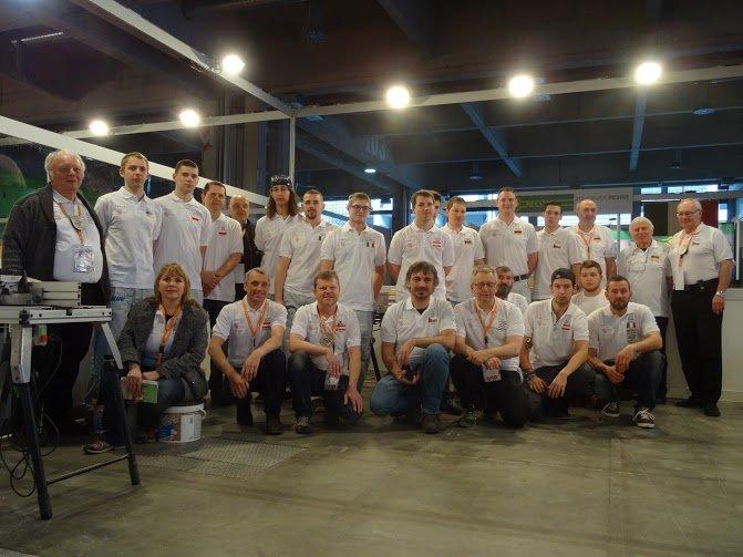 Uczestnicy XI Mistrzostw Europy Młodych Parkieciarzy w Bolzano