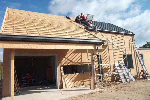 Dach domu pasywnego w technologii STEICO