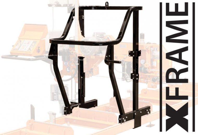 Nowa konstrukcja ramy xFRAME – utrzymuje stabilnie głowicę z silnikiem i pulpitem operatora