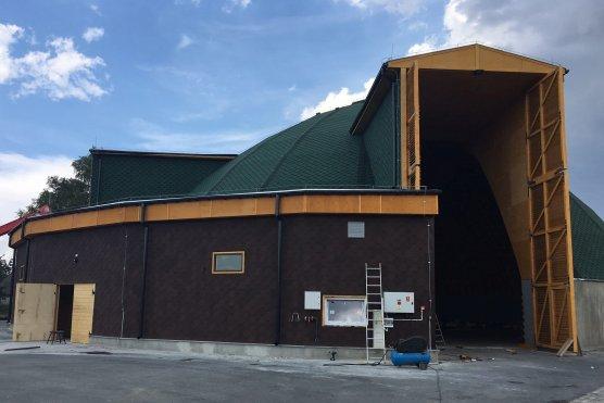 Jeden z magazynów soli wybudowanych przez Fabrykę Konstrukcji Drewnianych