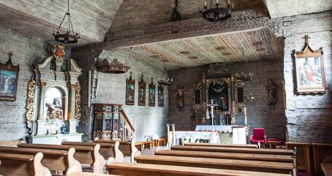 Wnętrze świątyni w Kosieczynie