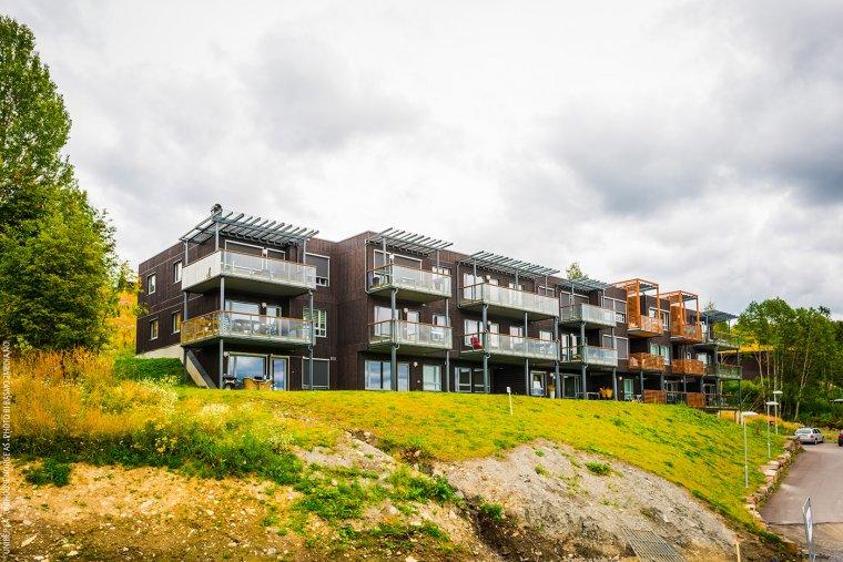 Przykład realizacji modułowych budynków mieszkalnych w Lillehammer