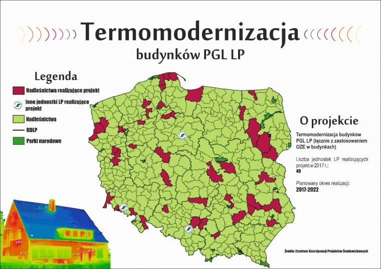 Termomodernizacja budynków PGL LP
