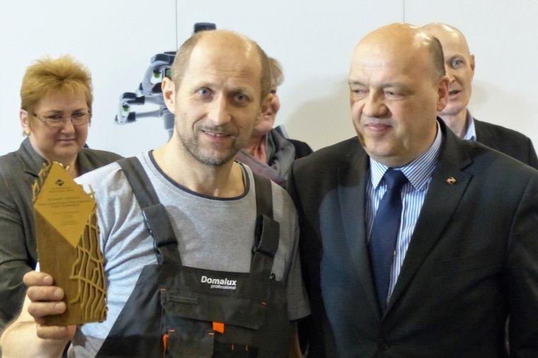 Krzysztof Ratka i Dariusz Kozera - prezes Stowarzyszenia Parkieciarzy Polskich