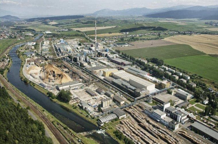 Fabryka papieru i celulozy Mondi SCP w Ružomberok na Słowacji