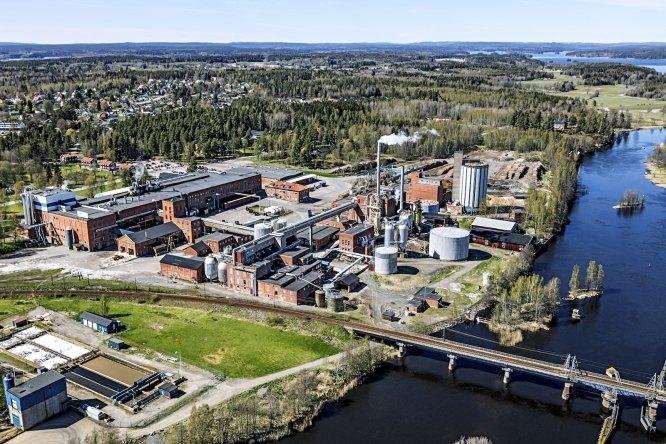 Zakład celulozowo-papierniczy w Säffle (Szwecja) należący do Nordic Paper