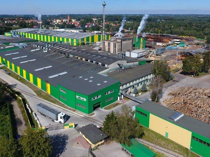 Fabryka sklejki w Morągu