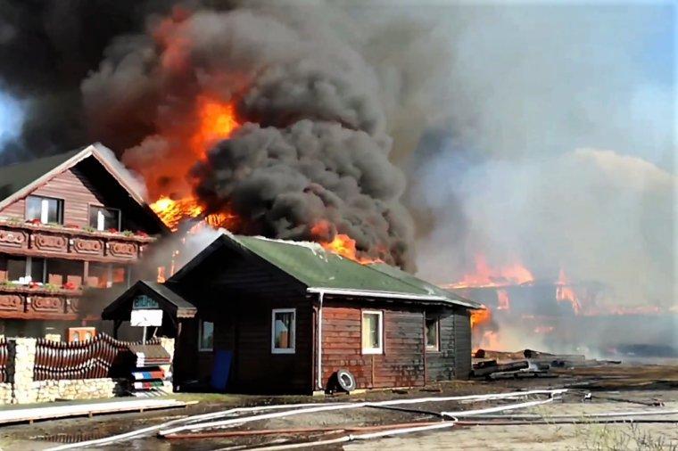 Ogromny pożar tartaku w Szybowicach