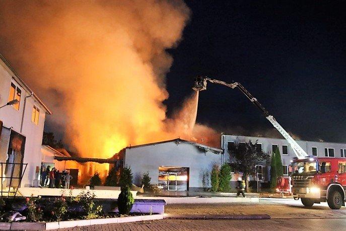 Pożar w fabryce mebli Primavera Furniture