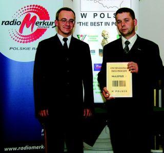 <center>Nagrodę odbiera<br>K.Pawłowski</center>