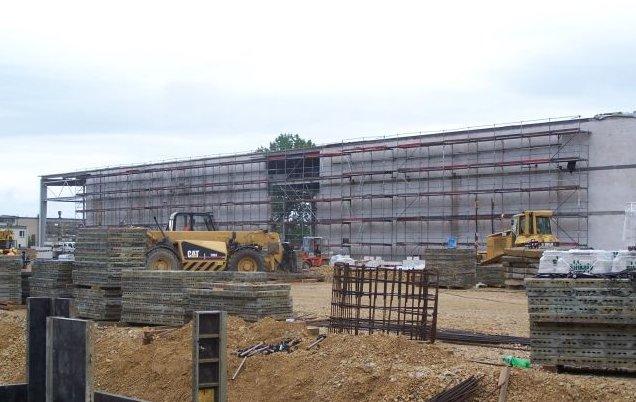Budowa fabryki Kronospan w Strzelcach Opolskich