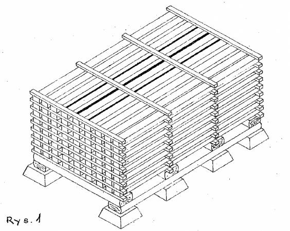 Rys. 1.  Sztapel dwuczołowy tarcicy
