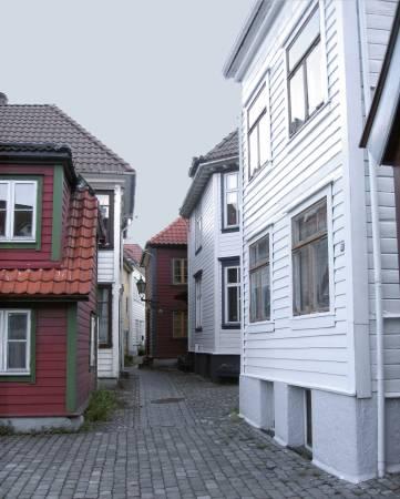 Drewniane domy w Bergen