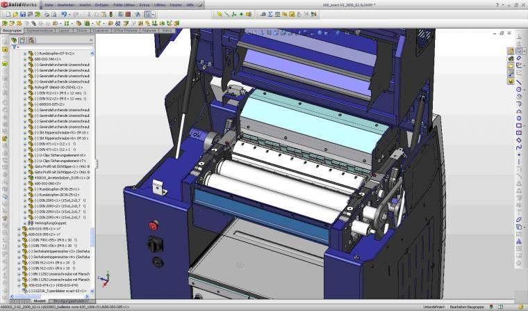 Ekran z oprogramowania SolidWorks