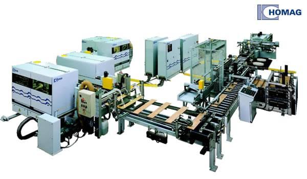 Linia do produkcji podłóg warstwowych z oferty Homag