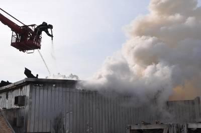 Pożar w tartaku w Płoskini