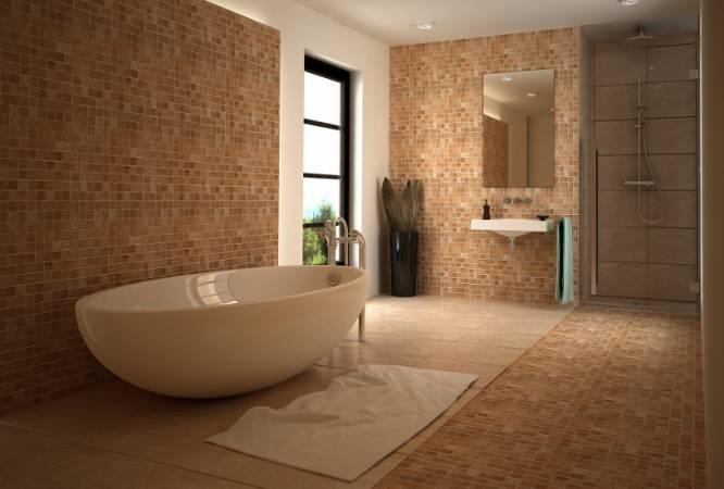 Przykład aranżacji z wykorzystaniem mozaiki Dunin ETN!K - łazienka