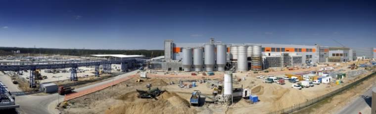 Panorama budowy nowej linii produkcyjnej