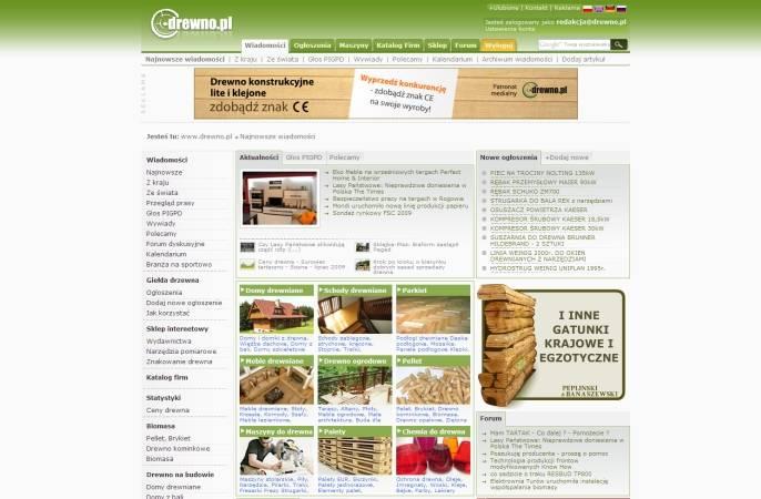 Dzięki reklamie w największym polskim vortalu branży drzewnej reklamodawca może dotrzeć do ok. miliona osób.