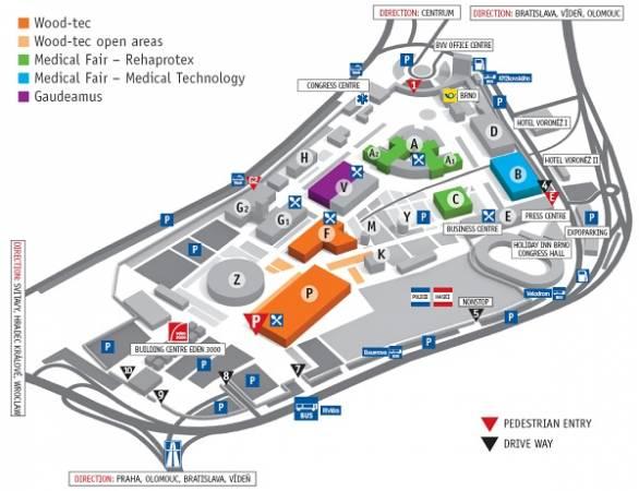 Plan targów w Brnie