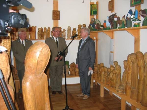 Otwarcie wystawy rzeźby Ludwika Oleksego