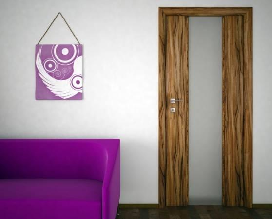 Drzwi Andromeda w okleinie zebrano - Classen