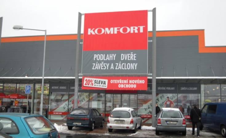 Nowy sklep sieci Komfort w czeskim Ústí nad Labem