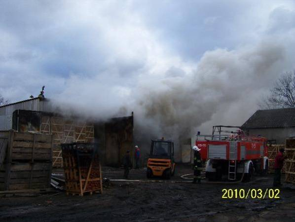 To juz drugi pożar suszarni w tartaku w Płoskini w ciągu kilku miesięcy