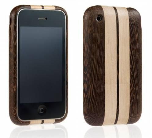 Holenderska firma Miniot oferuje drewniane obudowy do telefonów iPhone. Na zdjęciu model Cobra - połączenia drewna wenge i klonu
