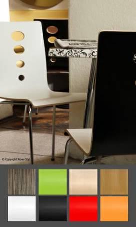 Krzesła z laminowanej sklejki