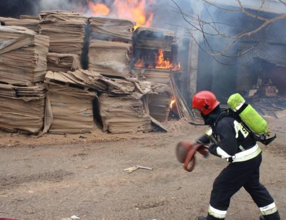 Akcja gaśnicza w Olecku