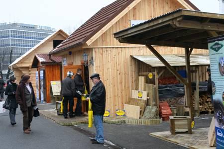 Wioska domów drewnianych na targach Budma 2010