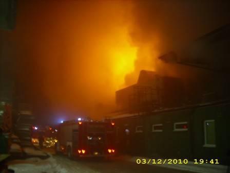 Pożar w Steico
