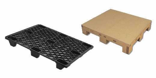 Czy drewniane palety zastąpione zostaną produktami z palstiku i tektury?
