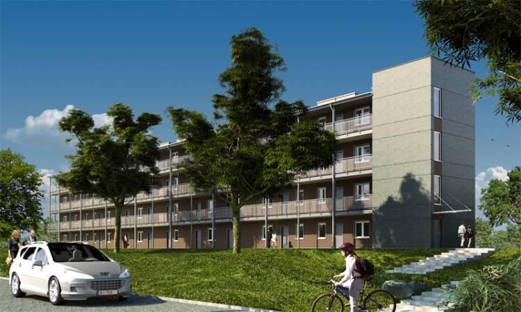 Moduły Unihouse pozwalają na budowę czterokondygnacyjnych budynków w technologii szkieletu drewnianego