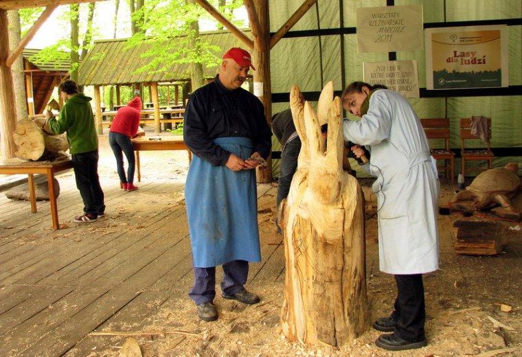 Plener rzeźbiarski w marculskim arboretum