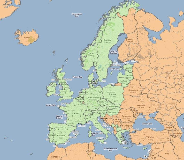 Mapa ryzyka transakcji z udziałem nielegalnego drewna w Europie